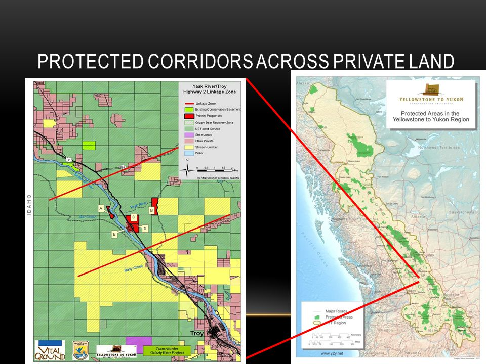 PROTECTED CORRIDORS ACROSS PRIVATE LAND