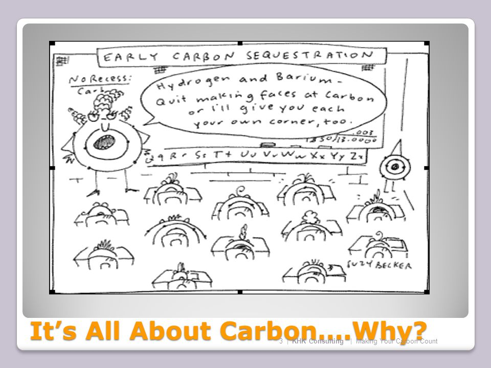 It's All About Carbon….Why 3 | KHK Consulting | Making Your Carbon Count