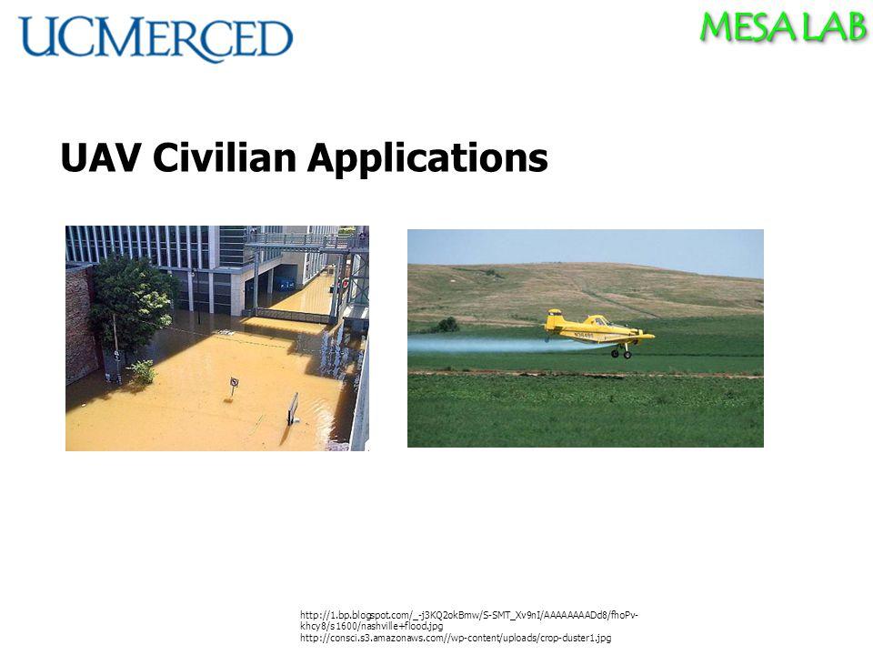MESA LAB UAV Civilian Applications http://1.bp.blogspot.com/_-j3KQ2okBmw/S-SMT_Xv9nI/AAAAAAAADd8/fhoPv- khcy8/s1600/nashville+flood.jpg http://consci.s3.amazonaws.com//wp-content/uploads/crop-duster1.jpg
