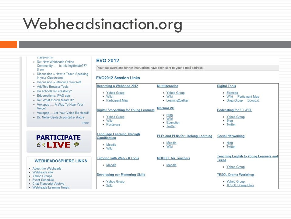 Webheadsinaction.org