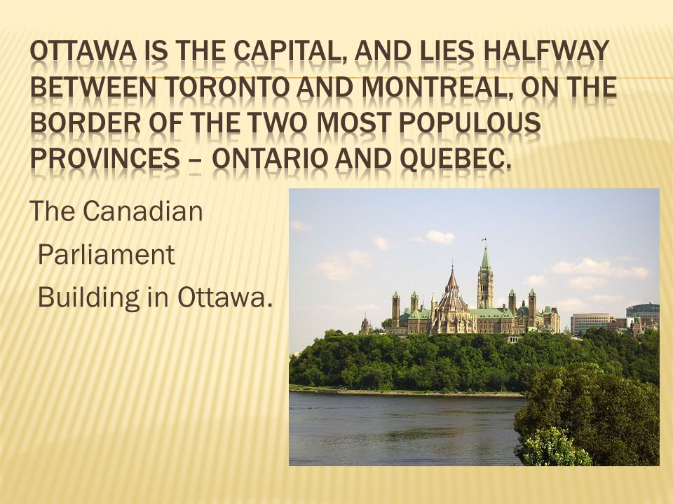 The Canadian Parliament Building in Ottawa.