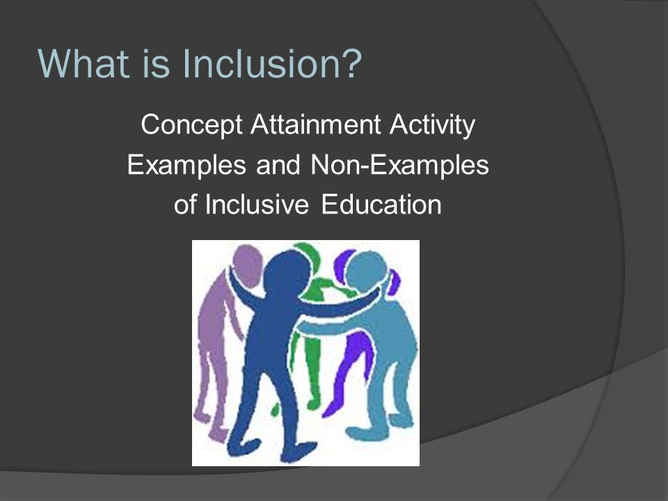 Inclusive Education is:  A human right - the Saskatchewan Human Rights Code states that all students have the right to be educated in a regular classroom in their neighborhood school with the right supports in place to succeed.