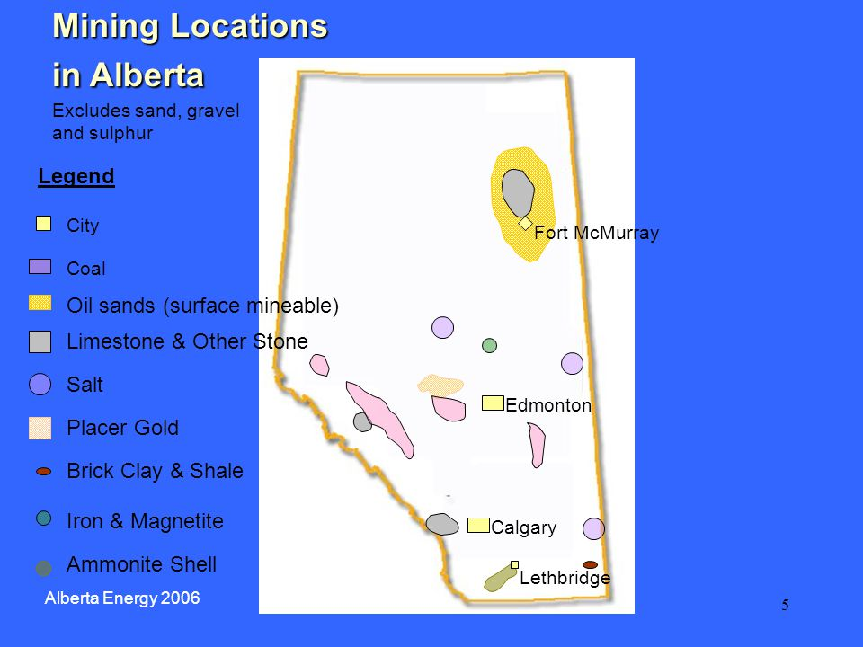16 Mineral Rights for Exploration in Alberta A permit ( claim ) grants the right to explore for Alberta-owned metallic and industrial minerals Application fee: $625 per agreement Size: 16 to 9,216 hectares Term: 14 years, not renewable Annual rent: None Work requirement: Yes, exploration work Alberta Energy 2006