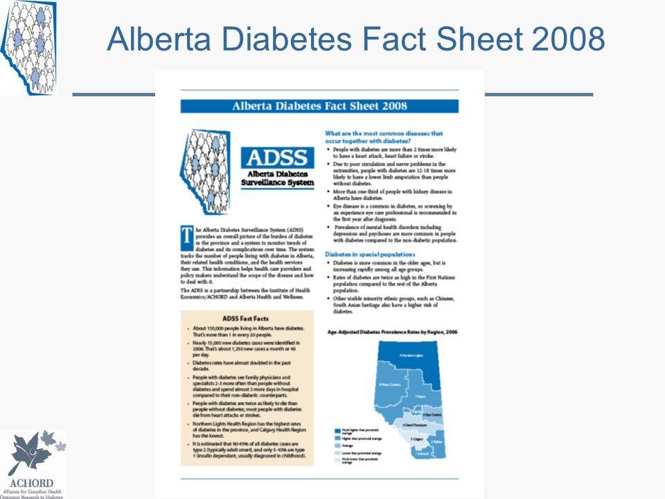 Alberta Diabetes Fact Sheet 2008