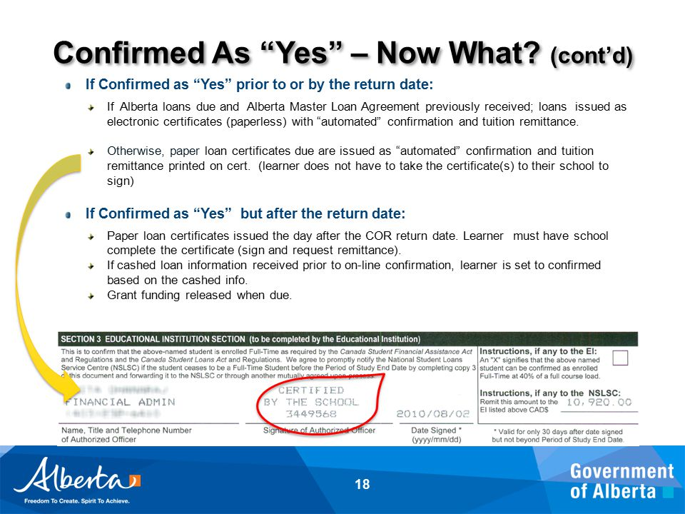Confirmed As Yes – Now What.
