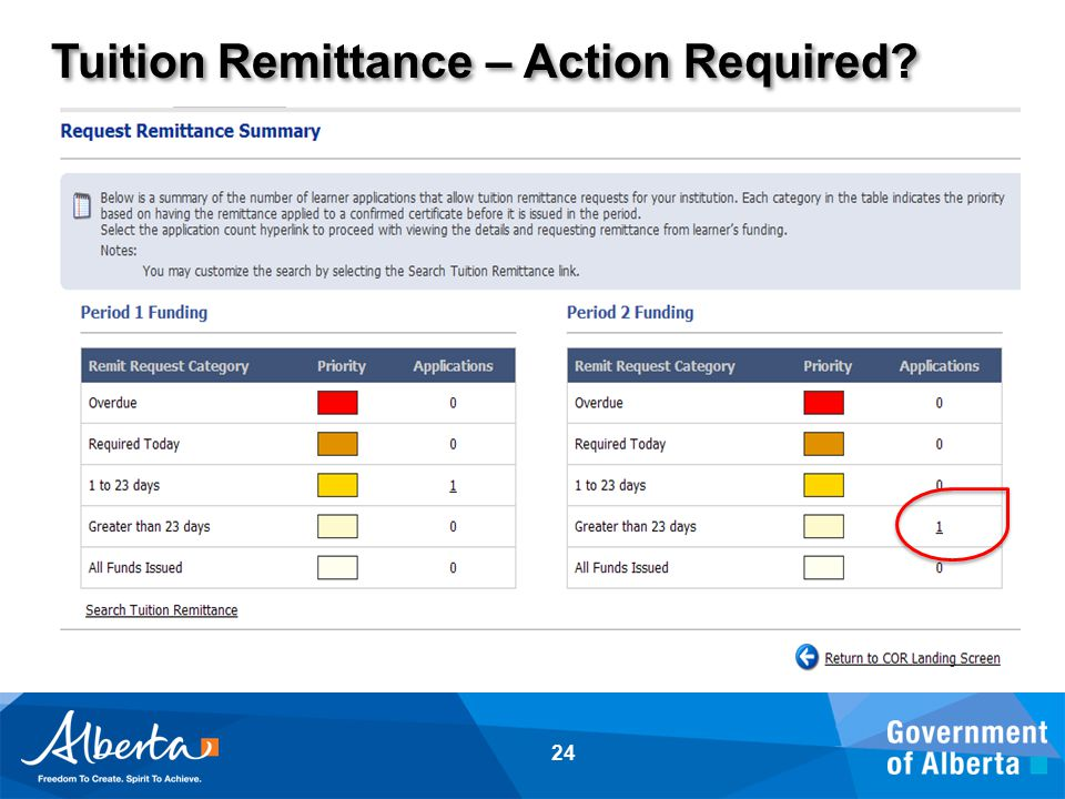 Tuition Remittance – Action Required? 24