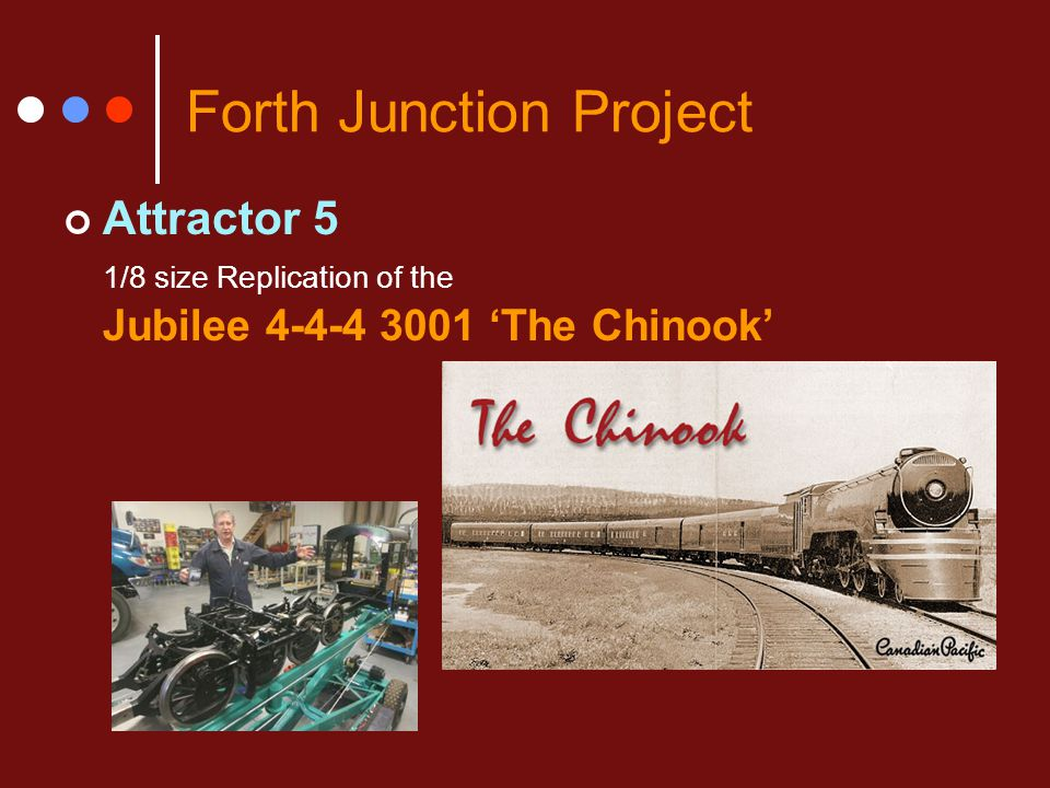 Forth Junction Project Attractor 5 1/8 size Replication of the Jubilee 4-4-4 3001 'The Chinook'