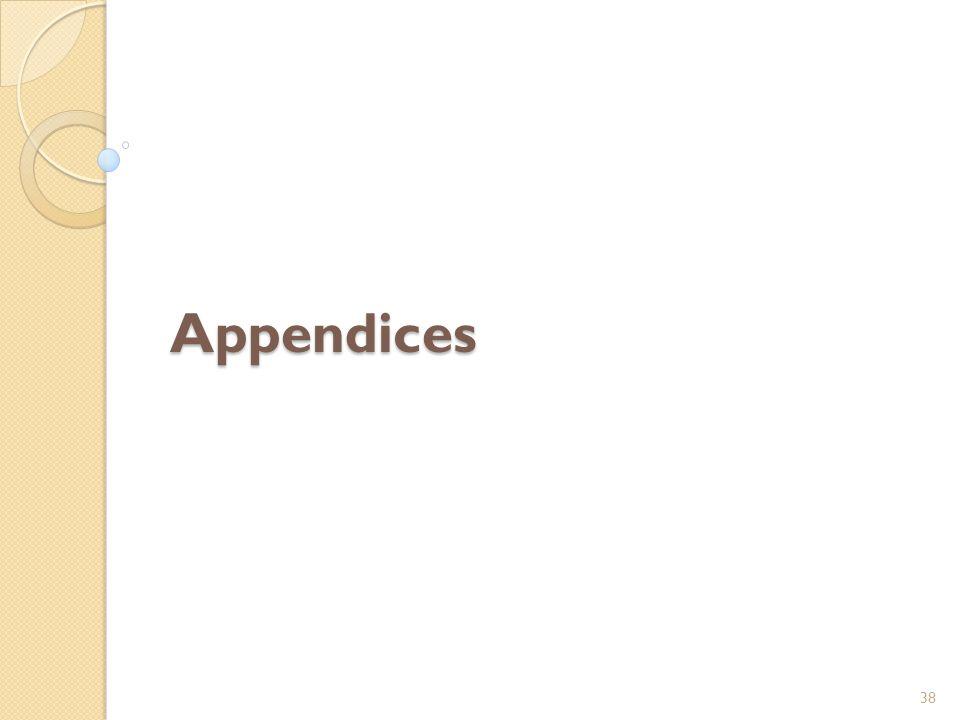 Appendices 38