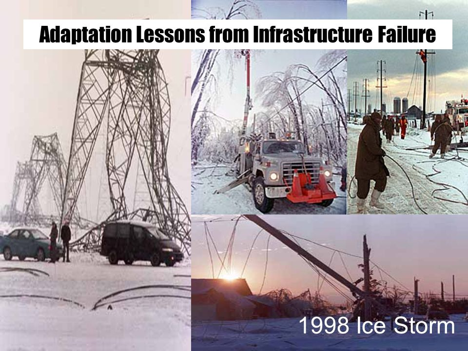 Adaptation Lessons from Infrastructure Failure 1998 Ice Storm