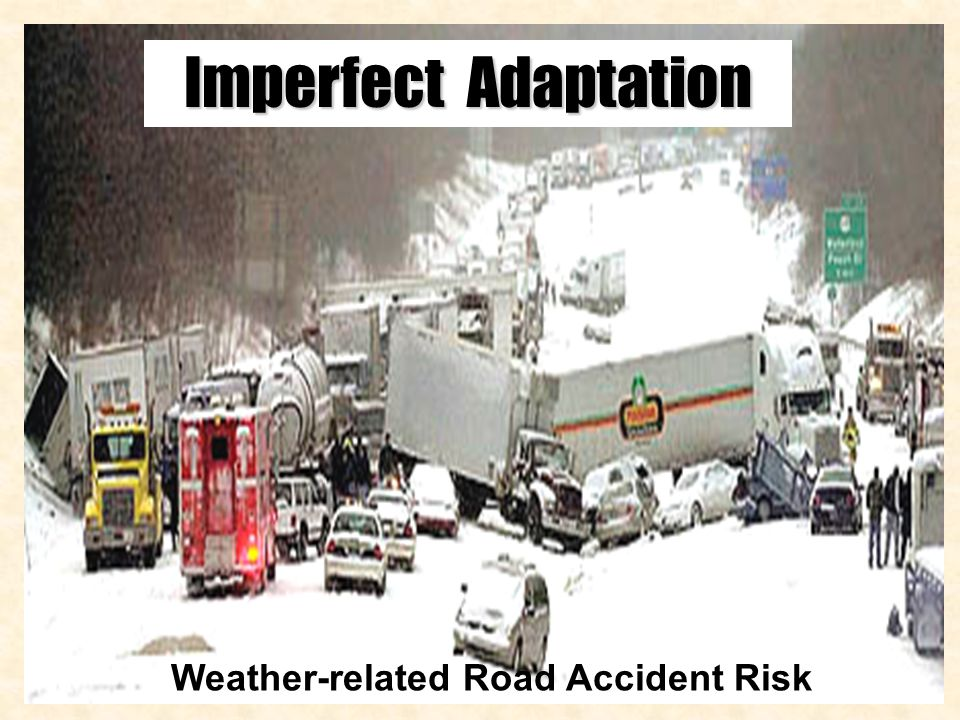 Imperfect Adaptation Weather-related Road Accident Risk