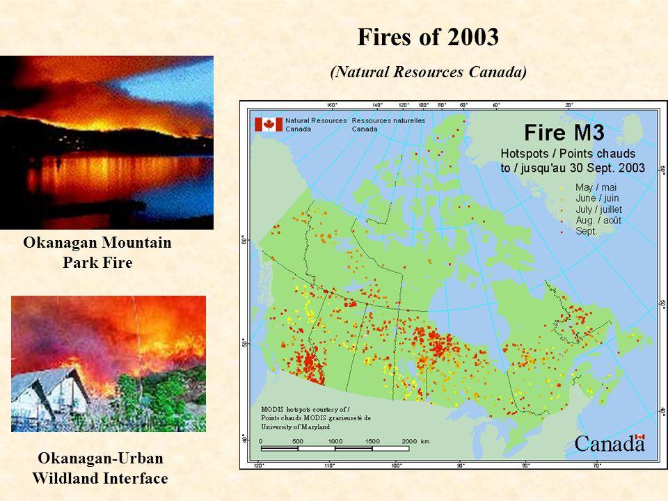 Okanagan Mountain Park Fire Okanagan-Urban Wildland Interface Fires of 2003 (Natural Resources Canada)