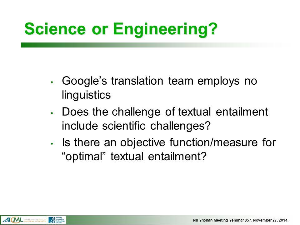 Science or Engineering.
