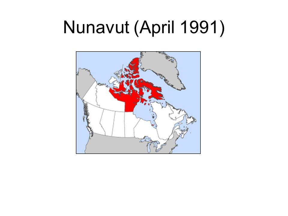Nunavut (April 1991)