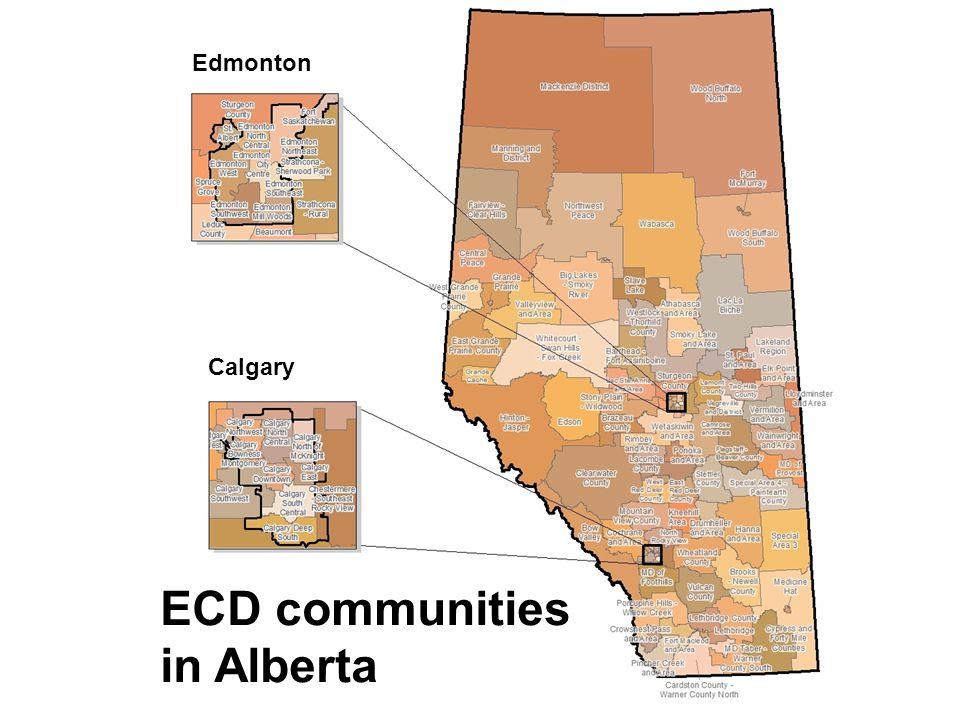 ECD communities in Alberta Edmonton Calgary