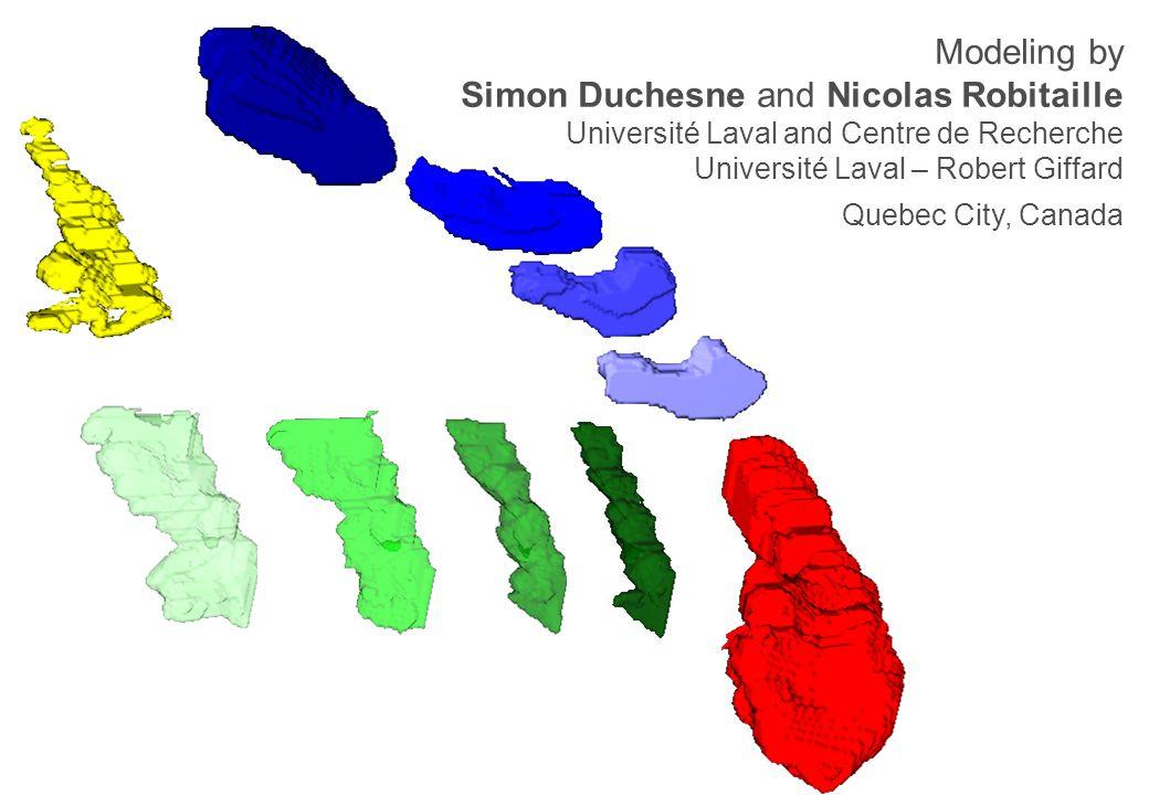 Modeling by Simon Duchesne and Nicolas Robitaille Université Laval and Centre de Recherche Université Laval – Robert Giffard Quebec City, Canada