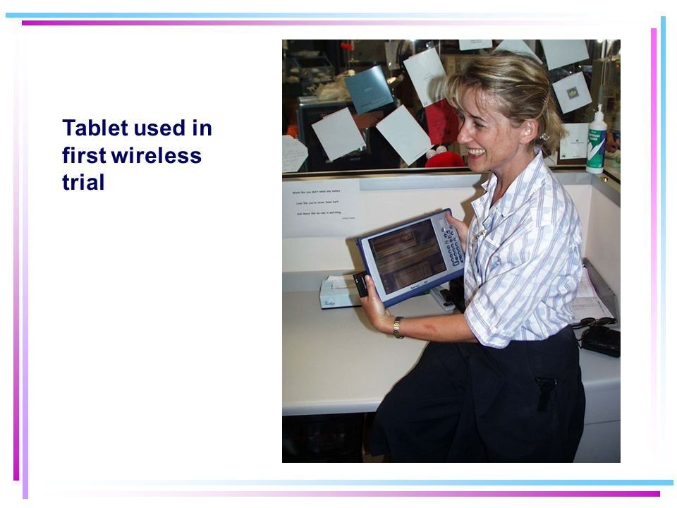 Tablet used in first wireless trial Tablet photo Tablet photo
