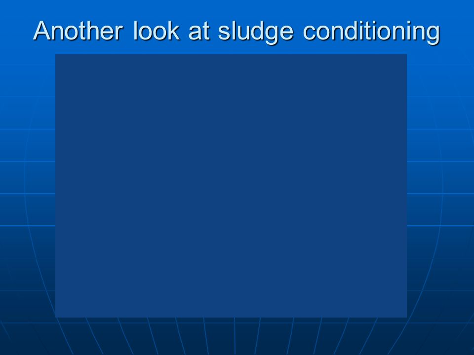 Another look at sludge conditioning