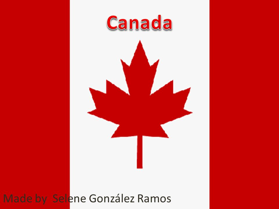 Introduction I'm going to talk about Canada