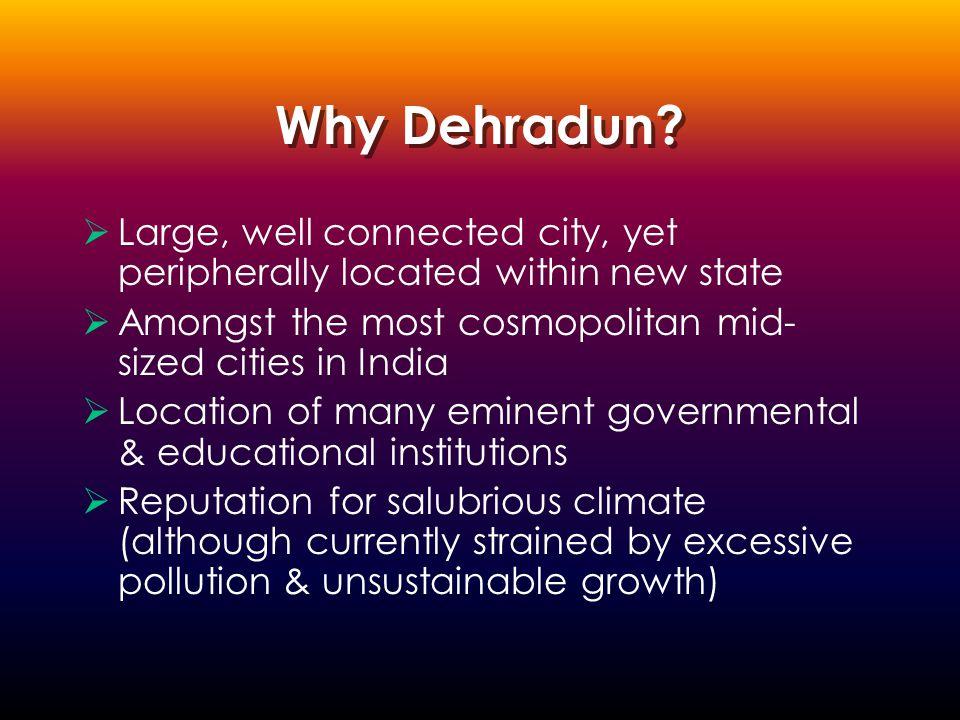 Why Dehradun.