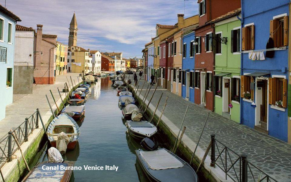 Canal Burano Venice Italy
