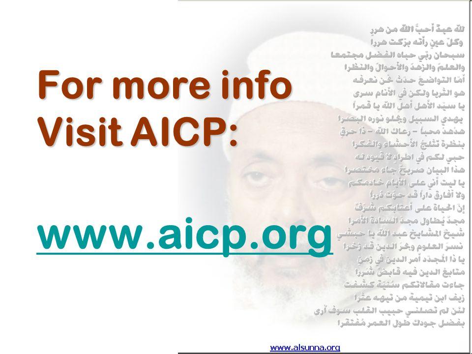 For more info Visit AICP: For more info Visit AICP: www.aicp.org www.aicp.org