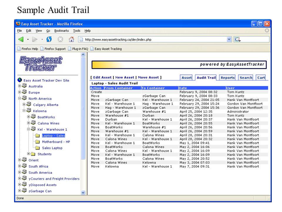 Sample Audit Trail