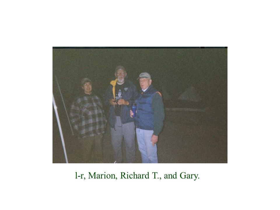 l-r, Marion, Richard T., and Gary.