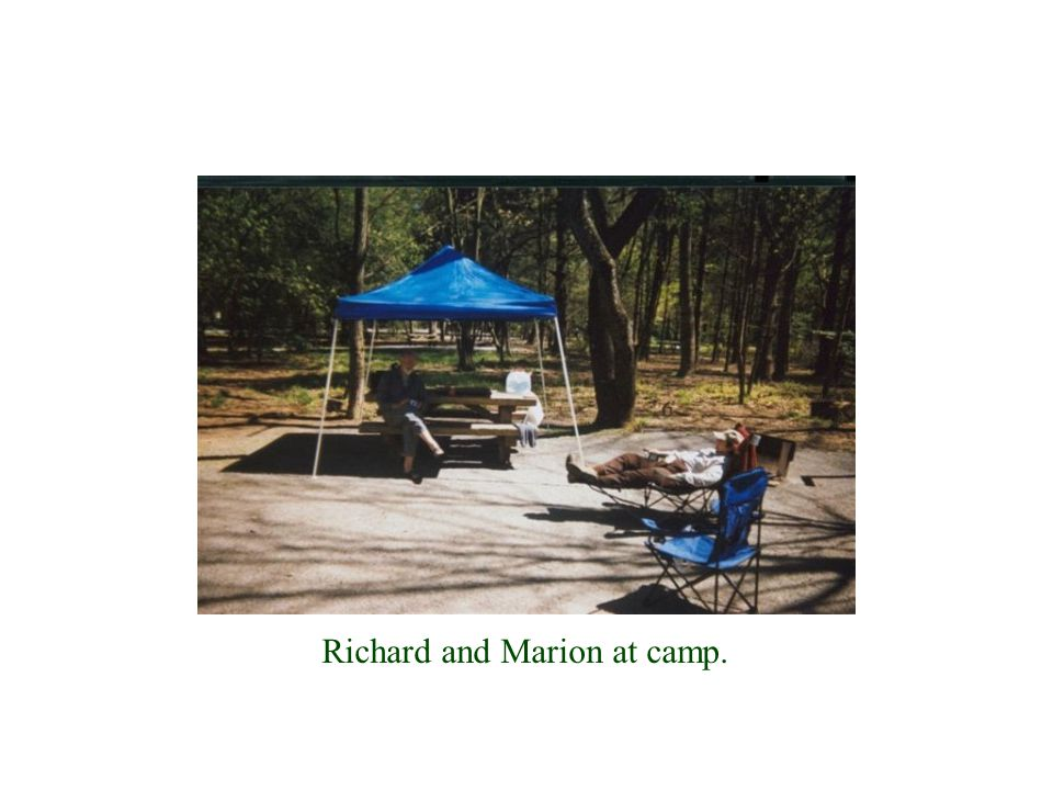 Richard and Marion at camp.