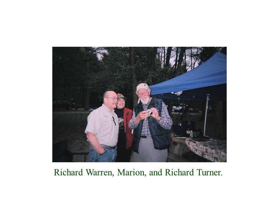 Richard Warren, Marion, and Richard Turner.