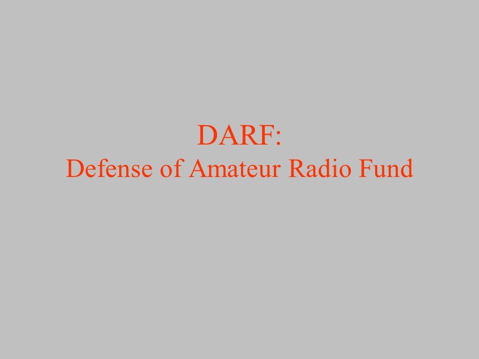 DARF: Defense of Amateur Radio Fund