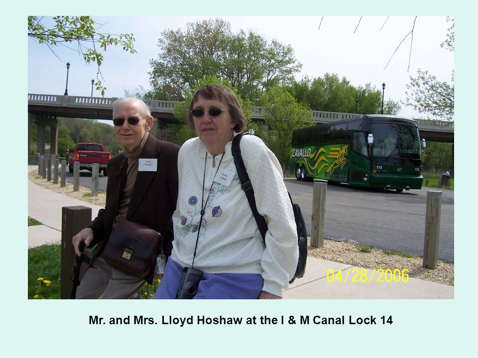 Mr. and Mrs. Lloyd Hoshaw at the I & M Canal Lock 14