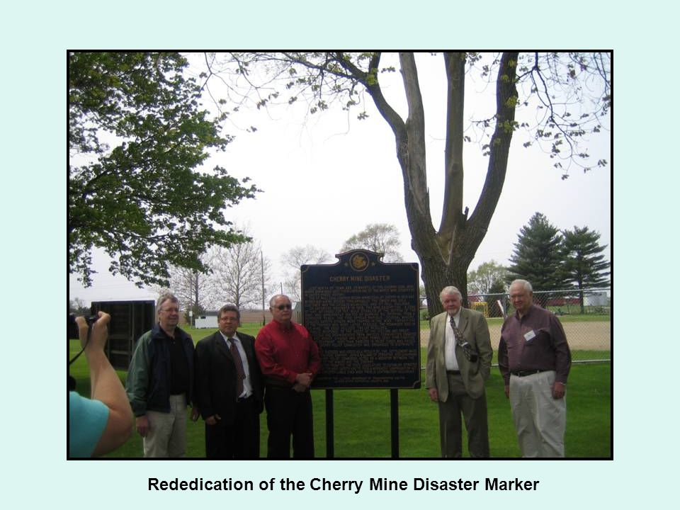 Rededication of the Cherry Mine Disaster Marker