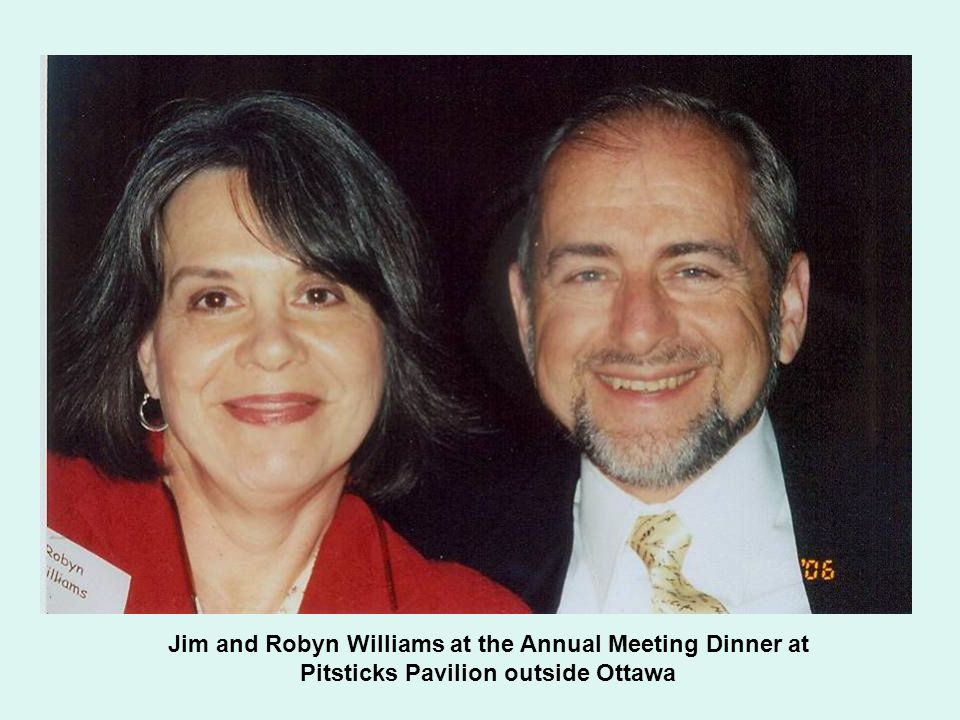 Jim and Robyn Williams at the Annual Meeting Dinner at Pitsticks Pavilion outside Ottawa