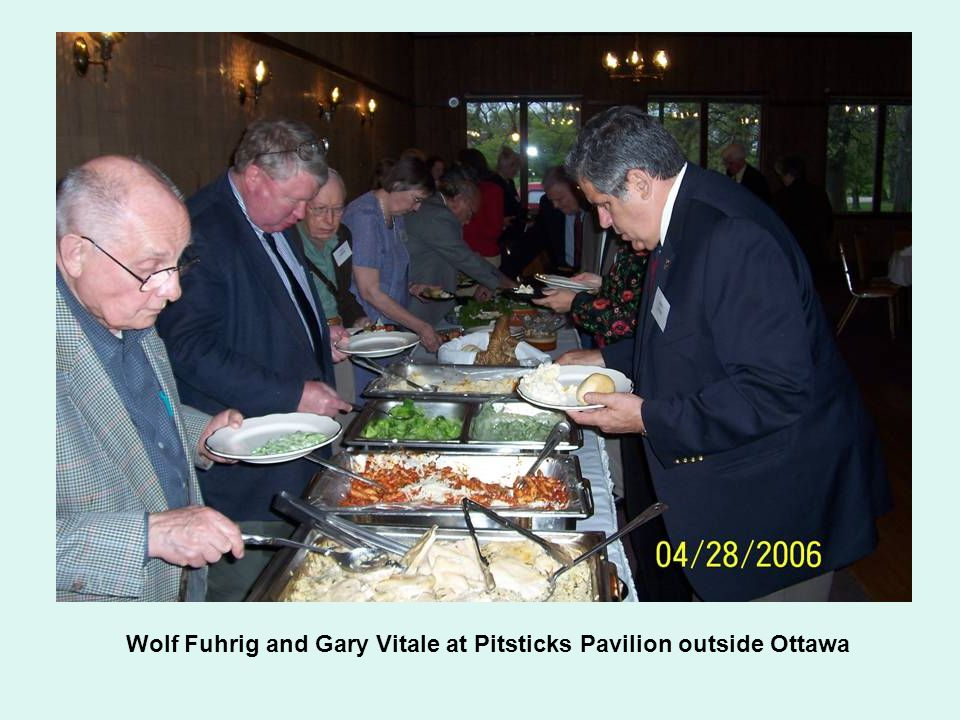 Wolf Fuhrig and Gary Vitale at Pitsticks Pavilion outside Ottawa