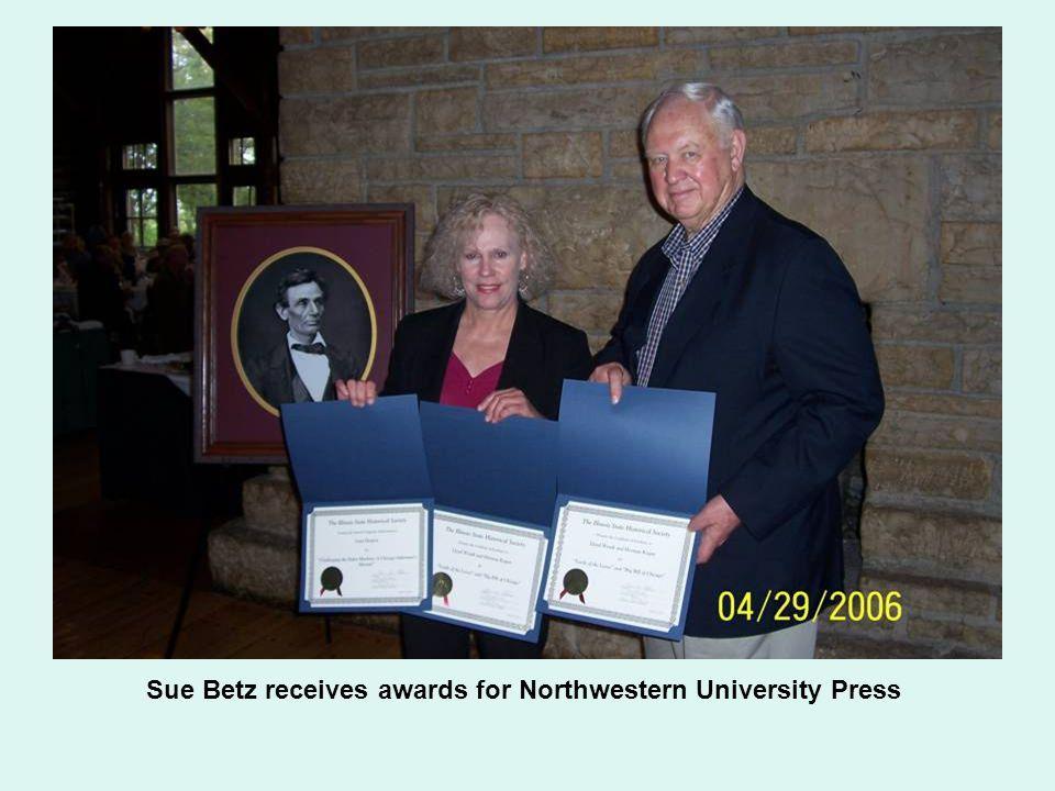 Sue Betz receives awards for Northwestern University Press