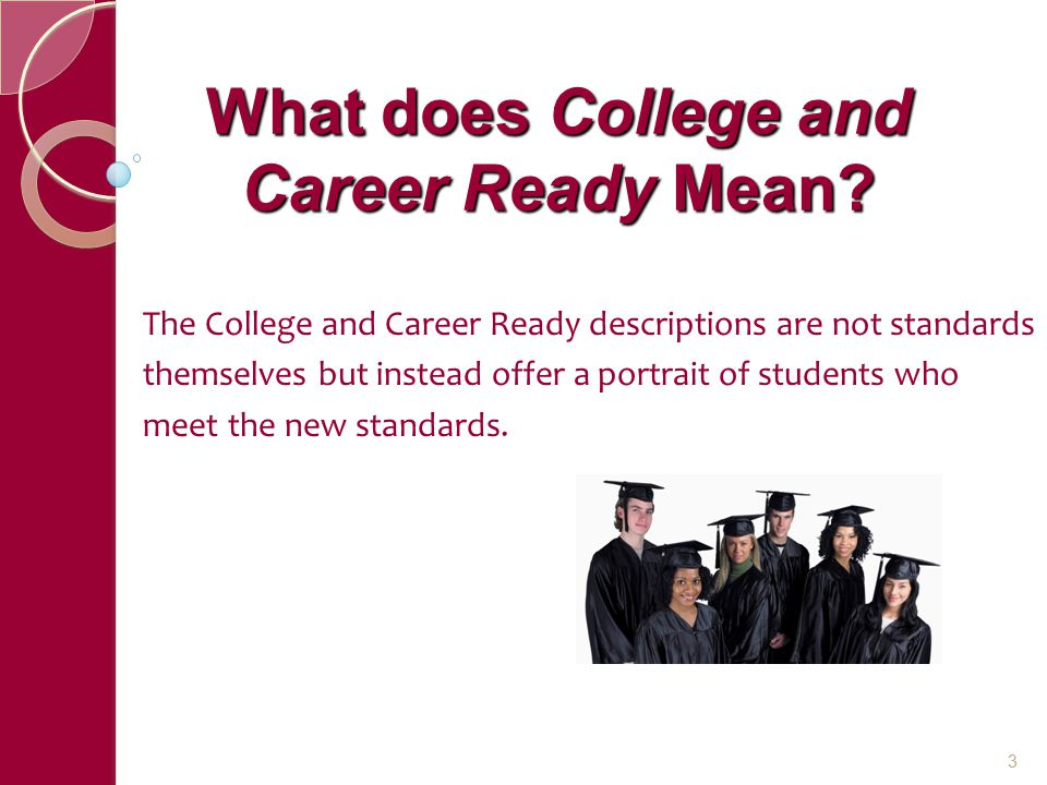 What does College and Career Ready Mean.