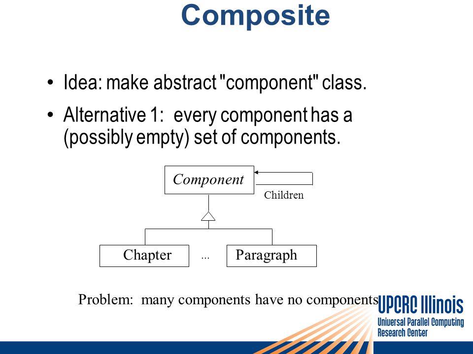 Composite Idea: make abstract