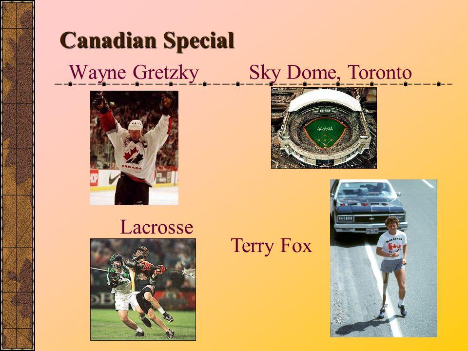 Wayne Gretzky Canadian Special Sky Dome, Toronto Lacrosse Terry Fox