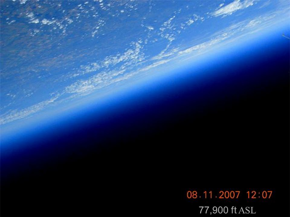 First image after the balloon burst.Vegreville under the 08 in the date stamp.Highway 16 can be seen along the right side of the image.