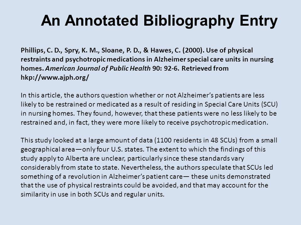 Phillips, C. D., Spry, K. M., Sloane, P. D., & Hawes, C.