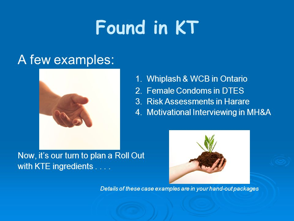 Found in KT A few examples: 1. Whiplash & WCB in Ontario 2.