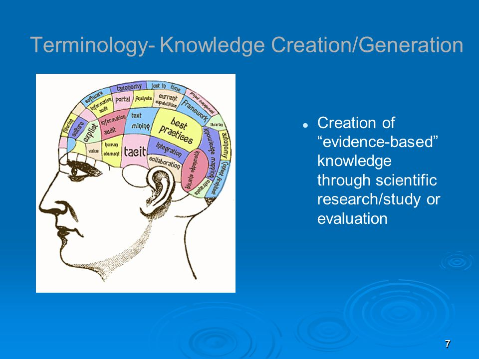 888 Terminology- Knowledge Translation The exchange, synthesis & ethically-sound application of knowledge---within a complex system of interactions among researchers & users----to accelerate the capture of benefits of research for Canadians through improved health, more effective services & products, and a strengthened health care system Canadian Institutes of Health Research (CIHR-2000) The purpose is to bridge the gap between what we know (evidence) with what we actually do; any KT strategy takes into account that translation and learning occurs in a complex social system, thus, it requires a learner-centered approach Canadian Association of Continuing Health Education (CACHE)