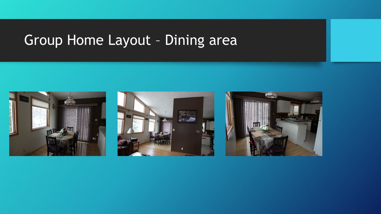 Group Home Layout – Dining area