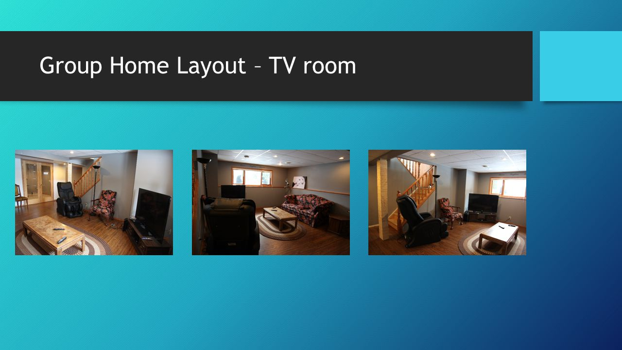 Group Home Layout – TV room