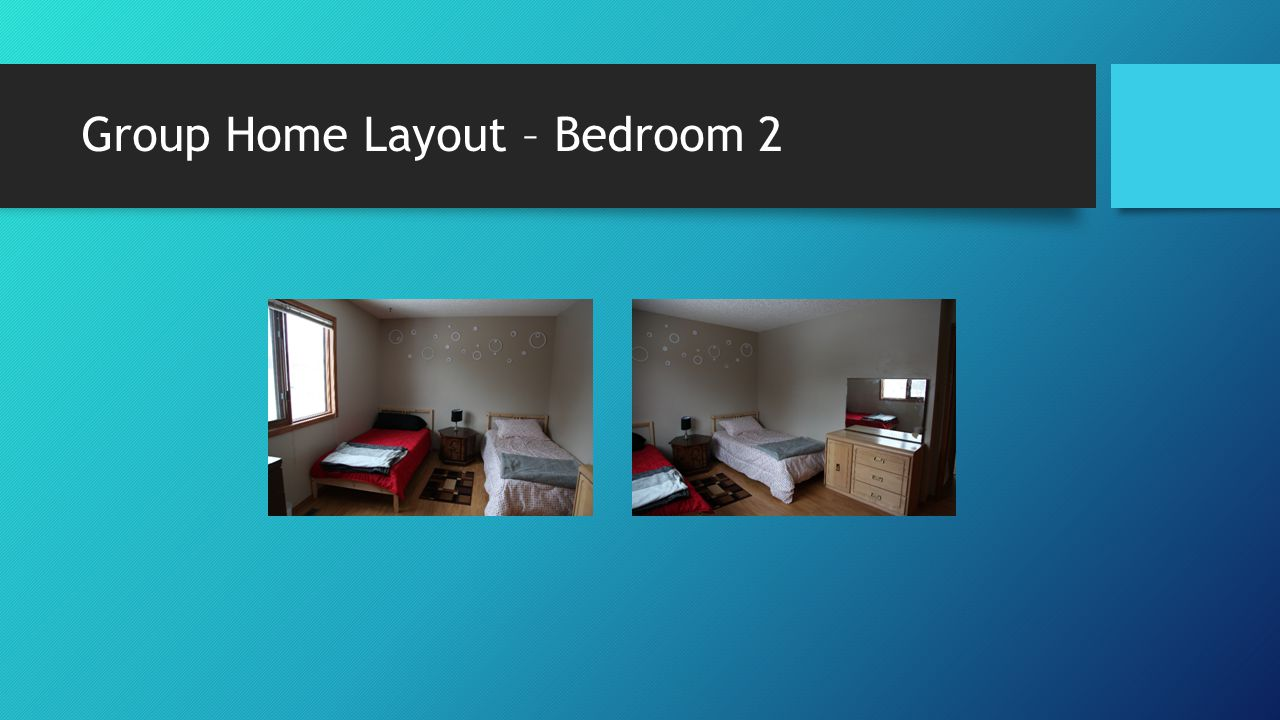 Group Home Layout – Bedroom 2