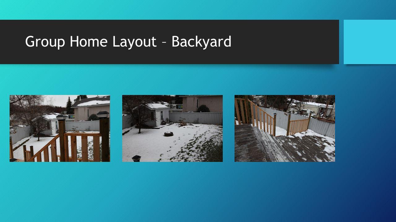 Group Home Layout – Backyard