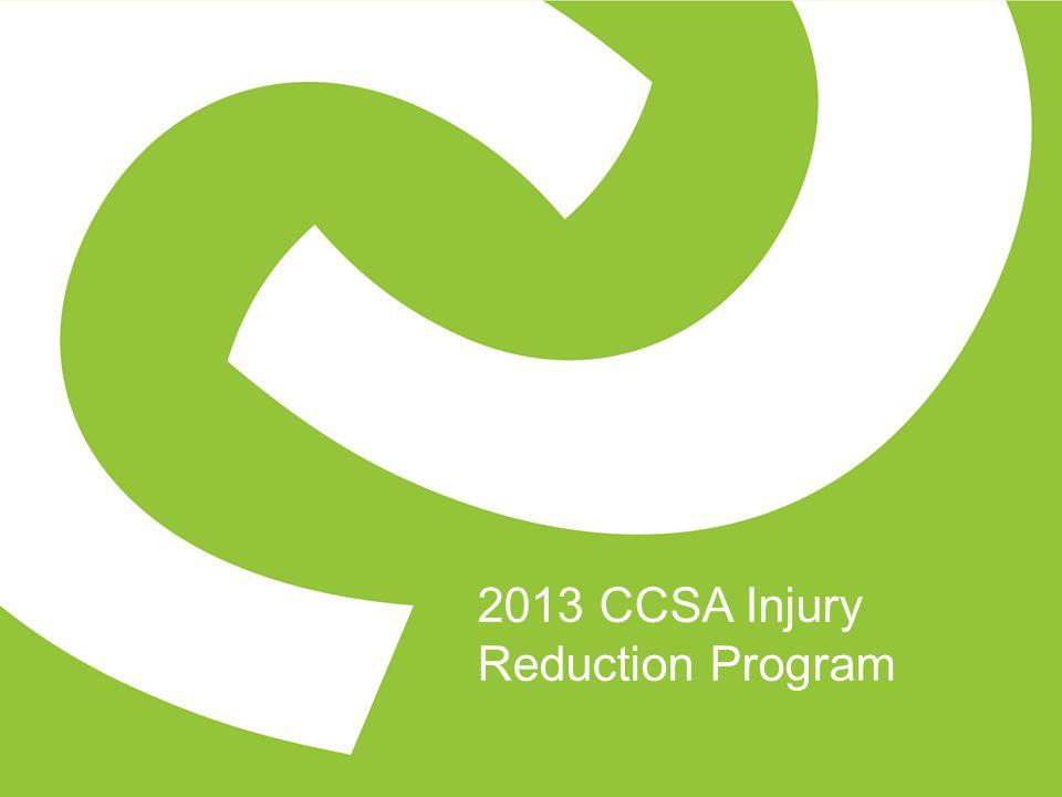 2013 CCSA Injury Reduction Program