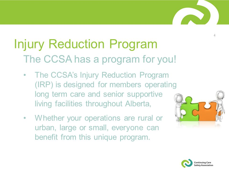 The CCSA has a program for you.