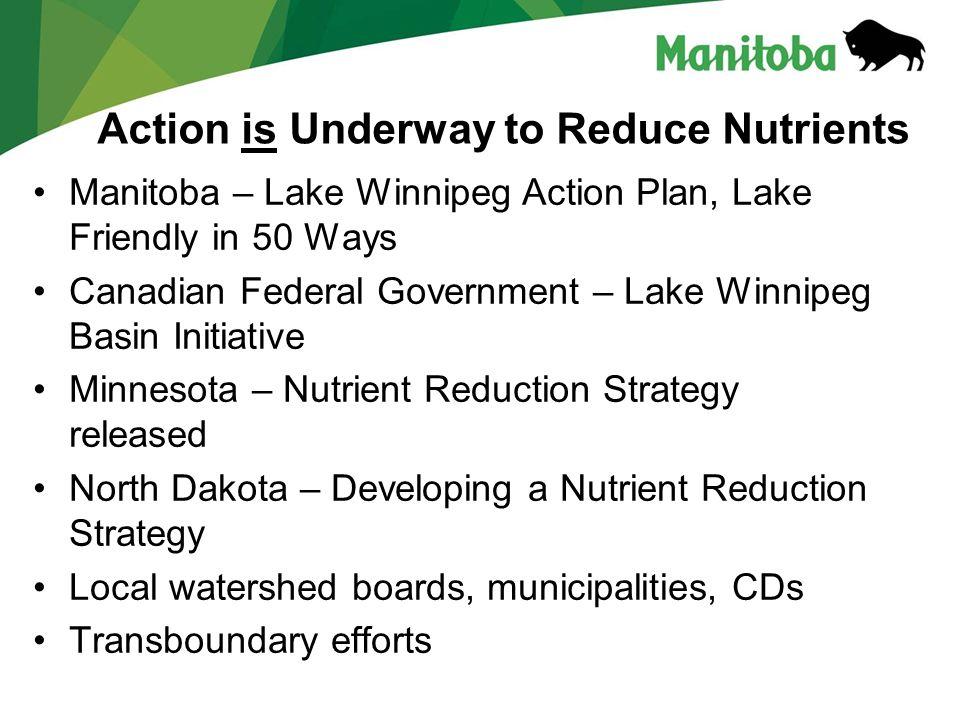 Manitoba Water Stewardship Manitoba Water Stewardship - Lake Winnipeg Action is Underway to Reduce Nutrients Manitoba – Lake Winnipeg Action Plan, Lak