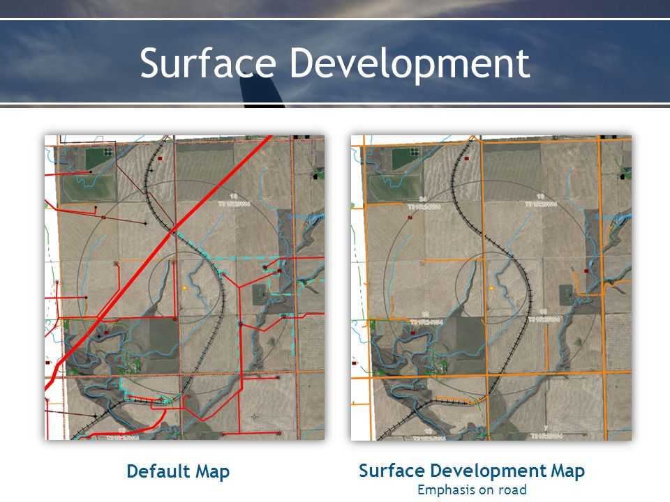 Surface Development Surface Development Map Emphasis on road Default Map